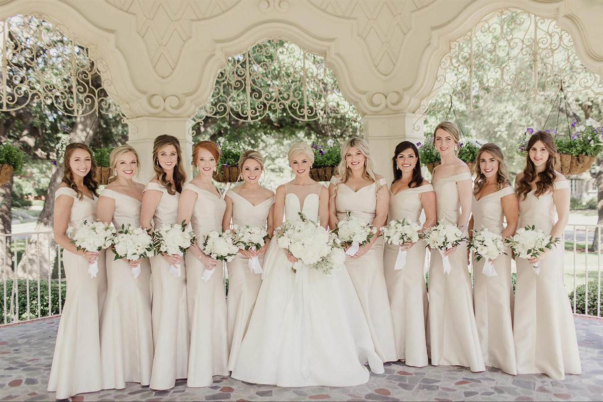 Dessy Real Wedding - Palomino Bridesmaids - 4519 - Menary Weddings