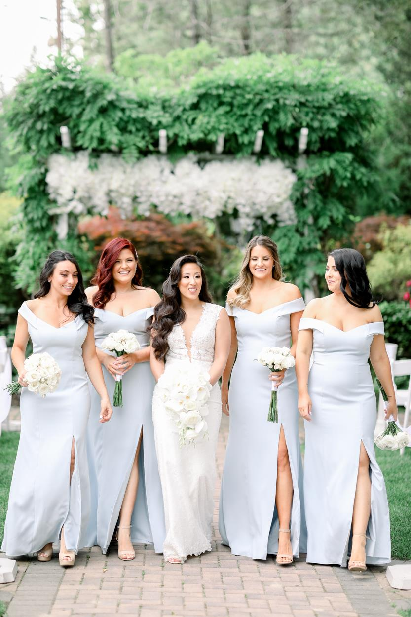 Want to look and feel flawless in your bridesmaid dress? Learn how to measure a bridesmaid dress accurately at home with this helpful guide by The Dessy Group. Photo by @photo_dh. Dresses: Dessy 3012.