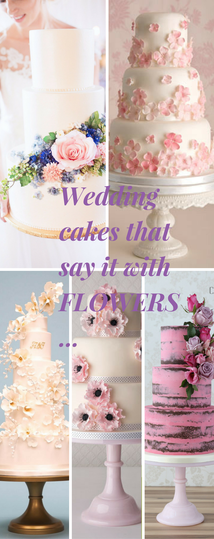wedding cakes with flowers
