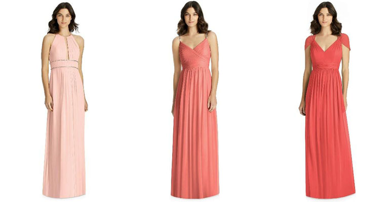 coral bridesmaid dress options