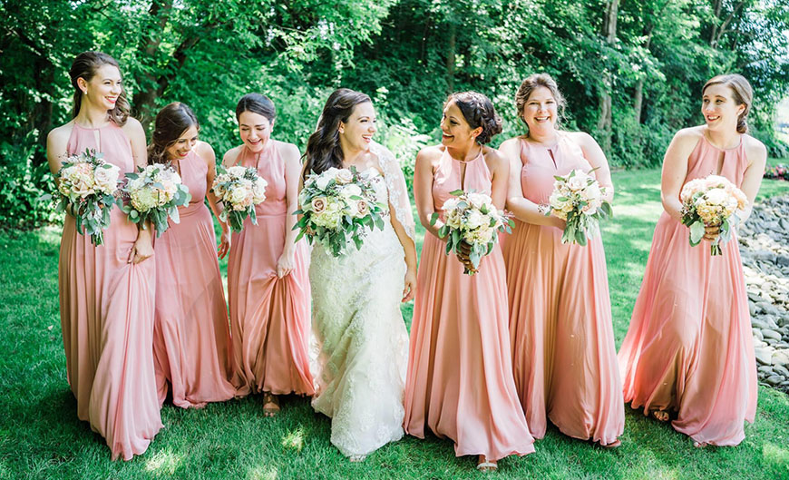 budget-friendly bridesmaid dresses for a destination wedding