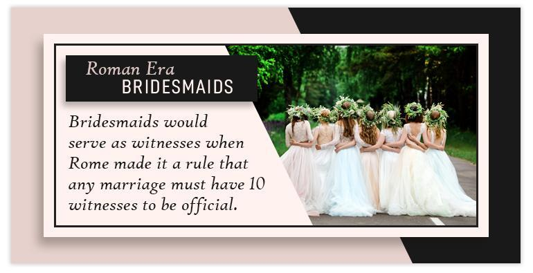 roman era bridesmaids