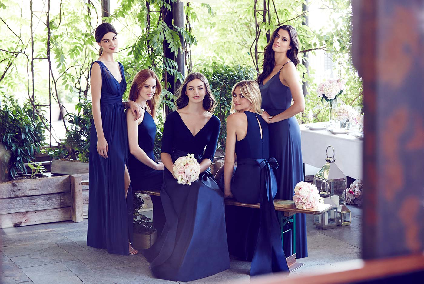 Miv N Match Navy Bridesmaid Dresses