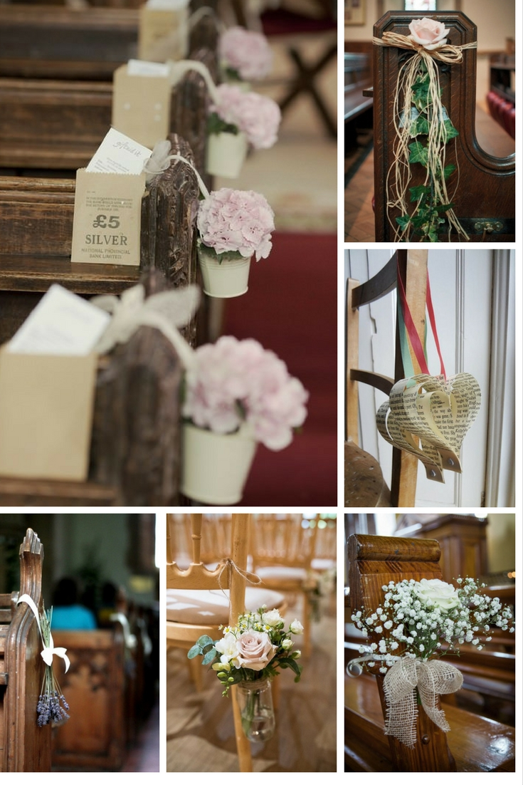 DIY ideas to decorate your wedding pews