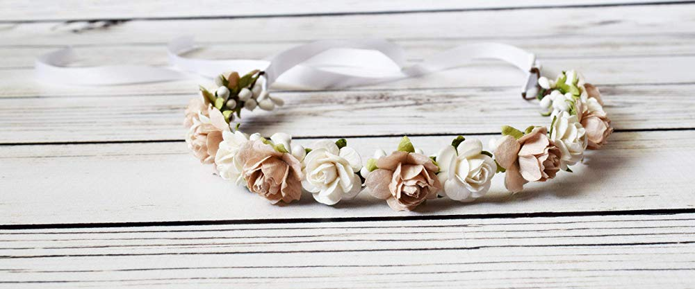 handcrafted flower crown by The Pearled Rose