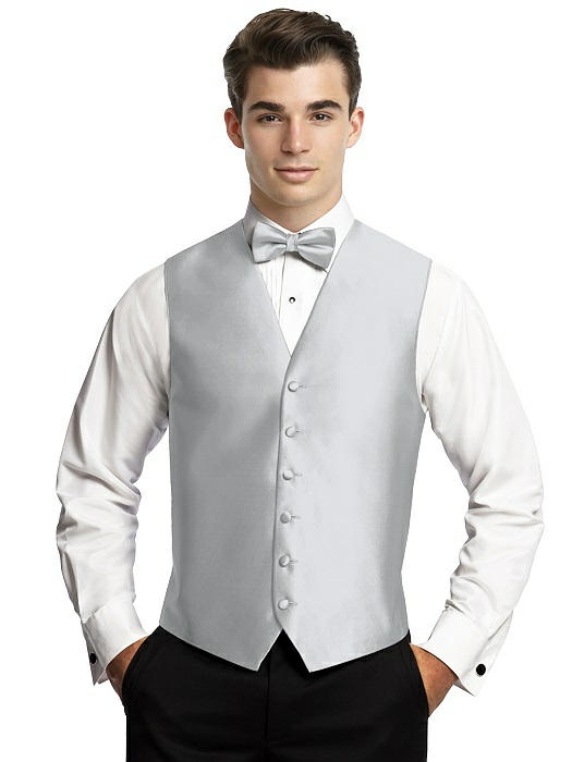 Silver formal vest by After Six
