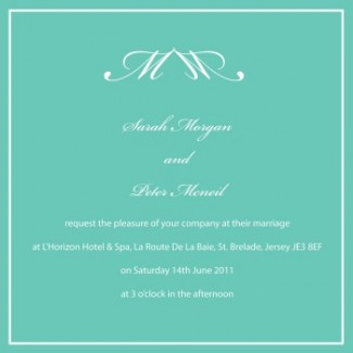 wedding initial monogram invitation card