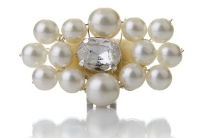 pearl buckle shoe clips