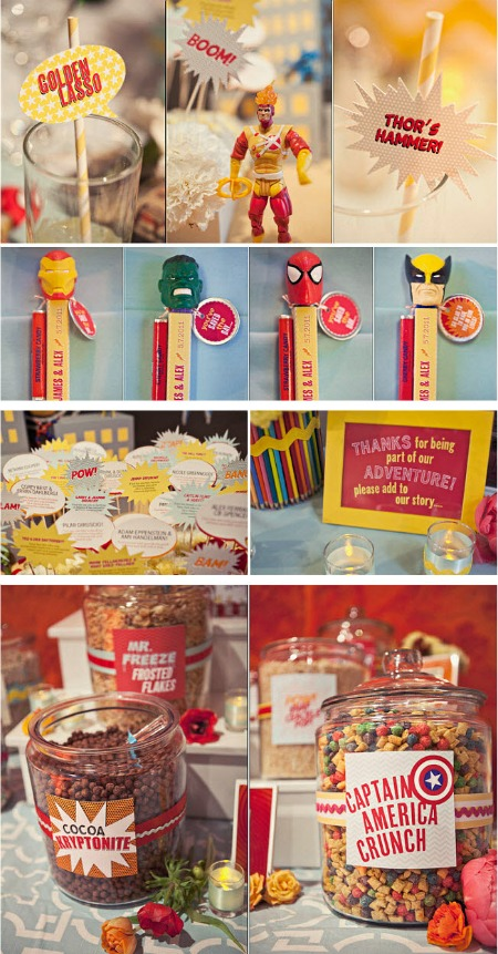 superhero wedding food