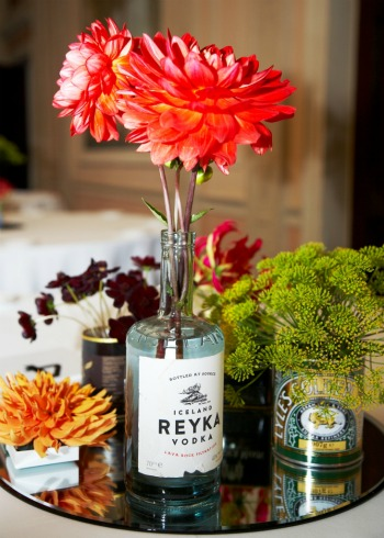 table centres in tins and bottles