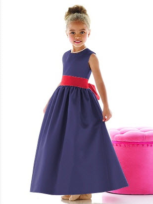 flowergirl dress with flame sash
