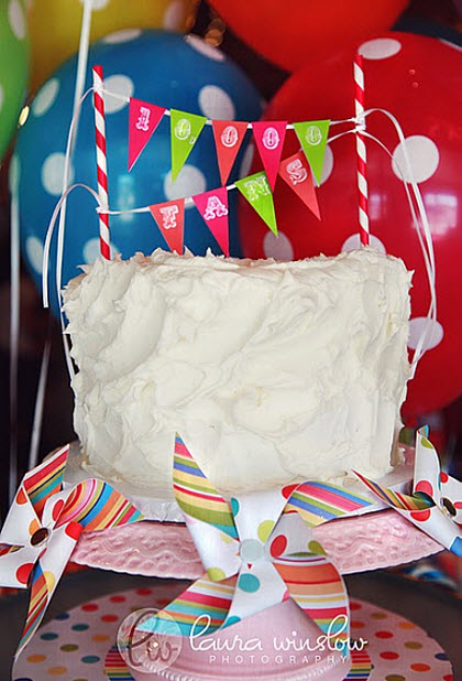 DIY Cake Bunting and Free Printable Alphabet Pages