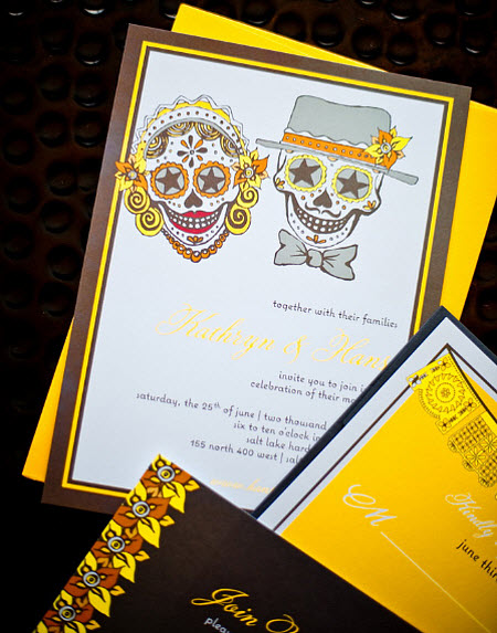A Spooky Wedding Theme: 'Day of the Dead'