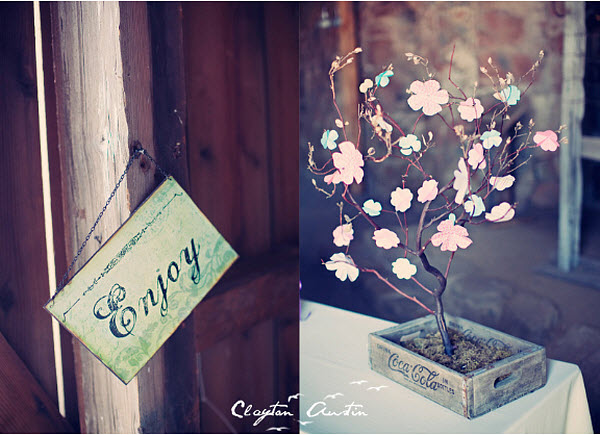 DIY Wedding Guest Book: A Flower Tree
