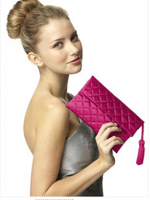 Hot pink bridesmaid handbag