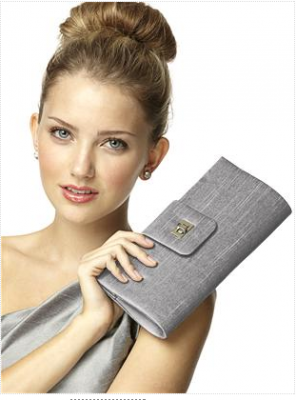 silver clutch bridemaid handbag