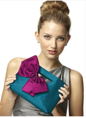 pink and turquoise clutch bridesmaid handbag