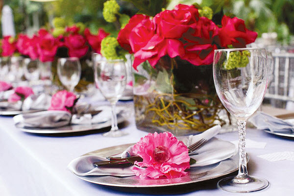 Silver and Pink Bridal Shower Ideas
