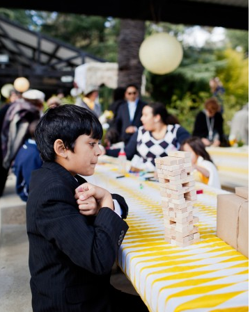 Jenga games for children at wedding