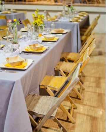 lemon yellow table settings