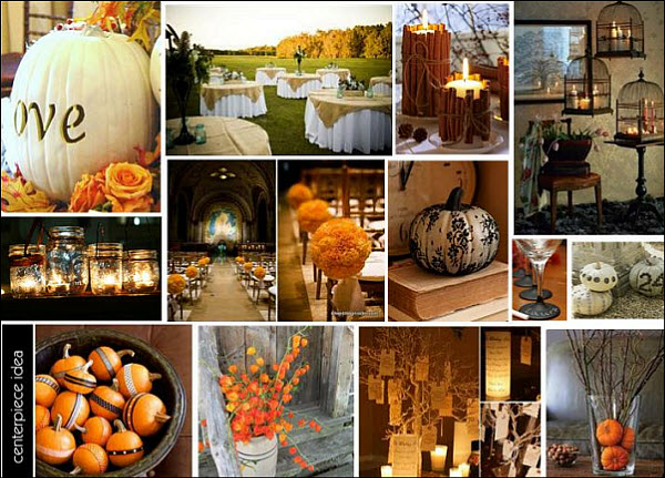 A Slice of Pie and a Fall Inspired Orange Wedding Theme