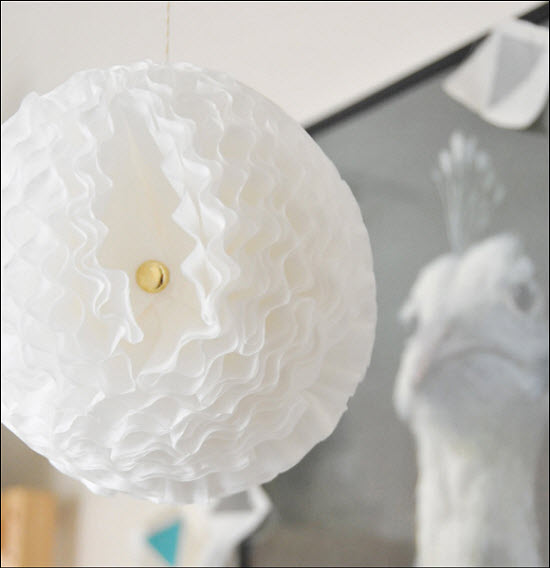 DIY Wedding Decor: Coffee Filter Pom Pom