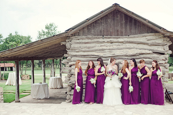 Military Wedding Romance: A Purple Outdoor Wedding
