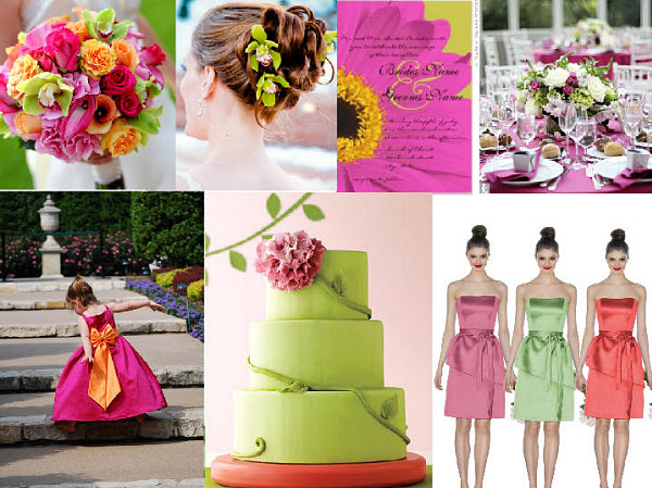 Bold Colored Wedding Styleboard