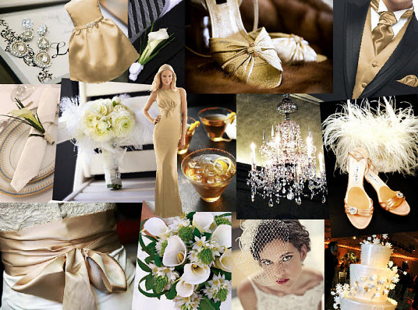 Wedding Inspiration: Glamour Gold Wedding Styleboard