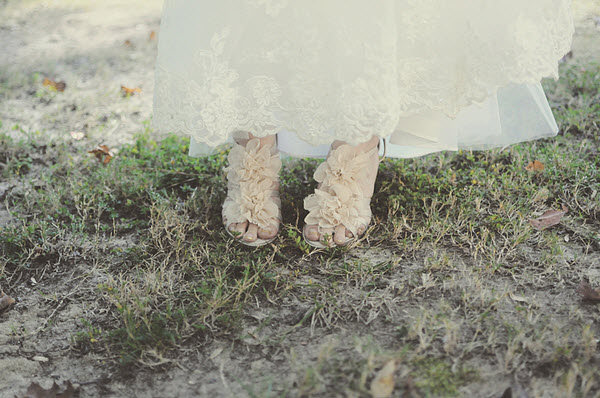 ruffle wedding shoes