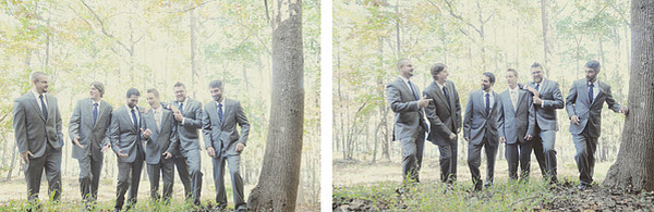 outdoor wedding groomsmen
