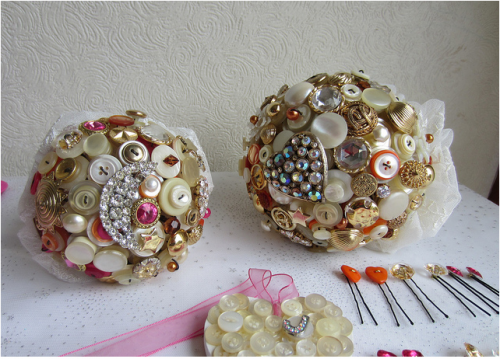button bouquets