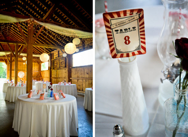 unique wedding themed tables