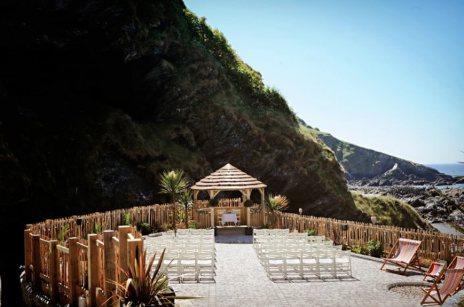 Tunnels Beaches Devon beachtop outdoor wedding venue