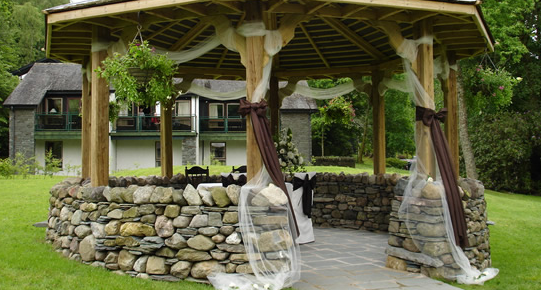 Langdale Hotel outdoor wedding venue
