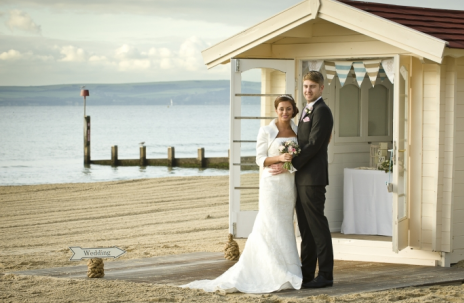 beach hut wedding bournemouth