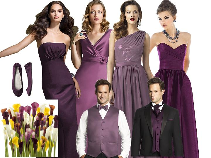 For the Love of Purple on Your Wedding Day