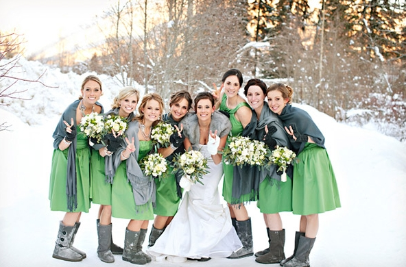 Winter Wedding Bridesmaid Cover-Ups