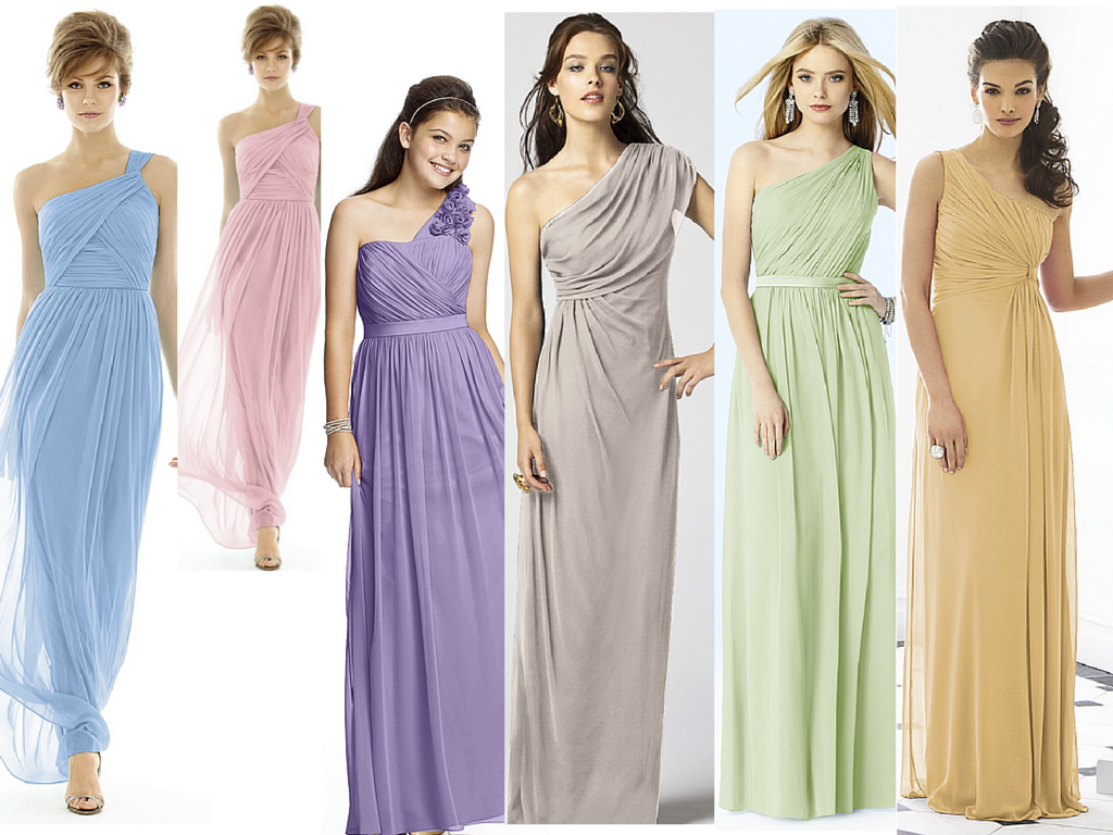 Goddess bridesmaid dresses