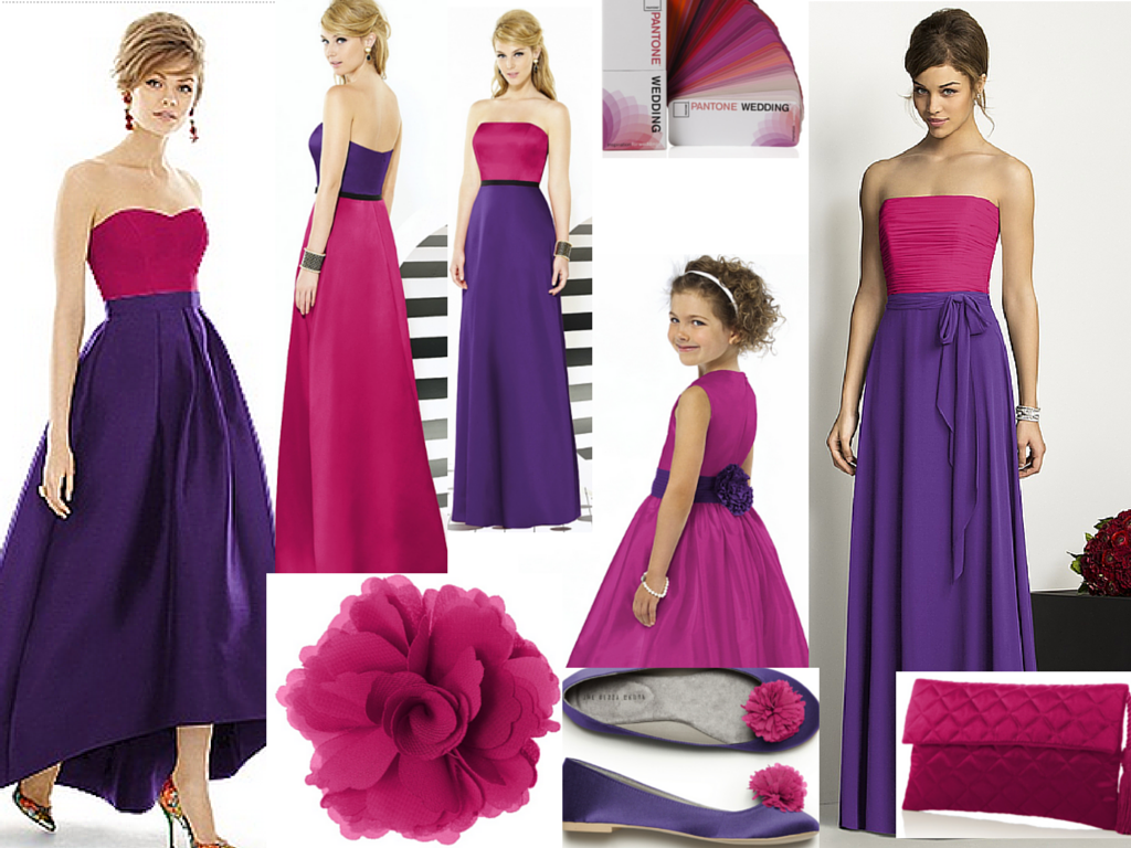 purple and fuchsia wedding colours