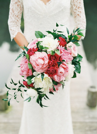 Pink and red bridal bouquet Adam Barnes Fine Art Photography