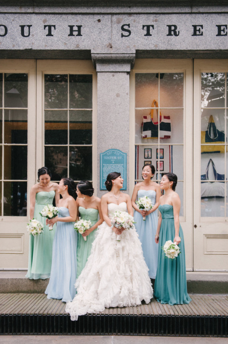 Pale green and blue wedding theme