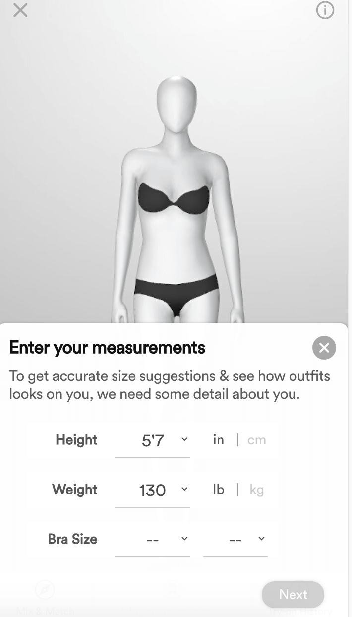 Enter Your Measurements