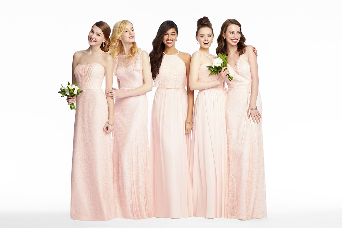 Mix & Match Bridesmaid Dresses in Blush Florentine Lace