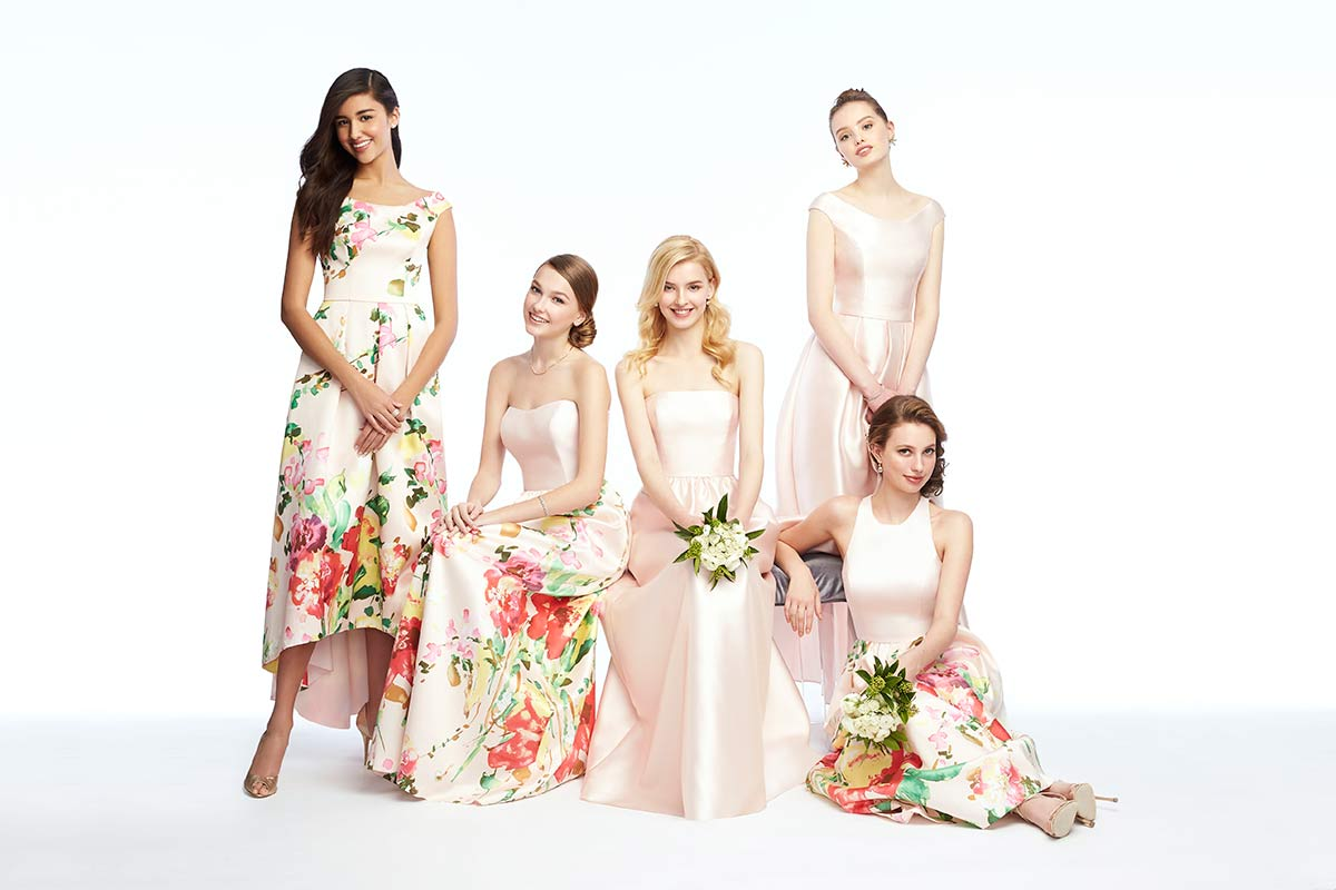 Mix & Match Bridesmaid Dresses in Florals