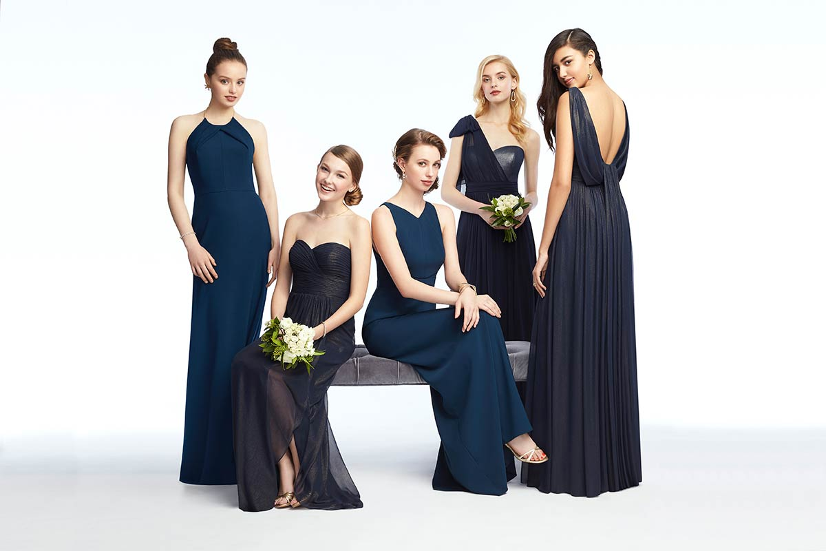 Mix & Match Bridesmaid Dresses in Midnight