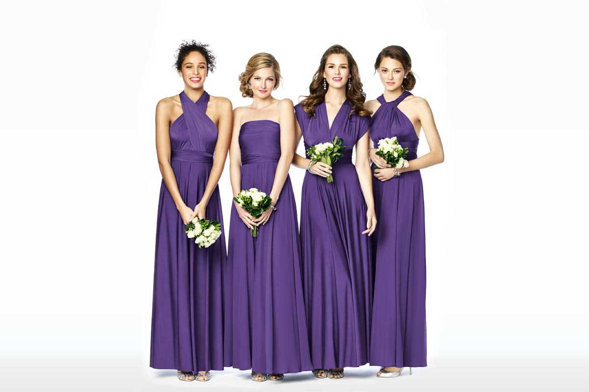 Mix & Match Bridesmaid Dresses - Twist Wrap Dresses