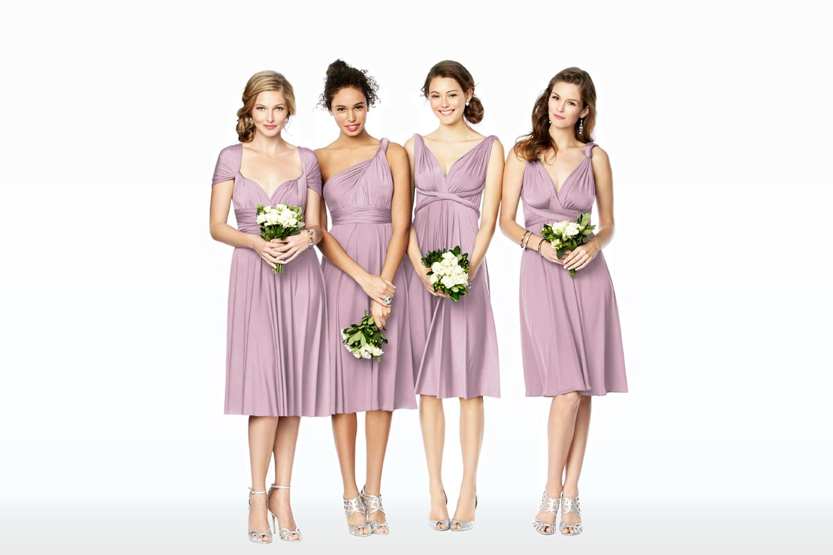 Mix & Match Bridesmaid Dresses, Twist Wrap Desses