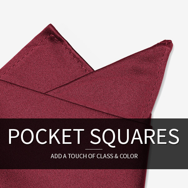 Men's Pocket Squares: Add a touch of class & color.