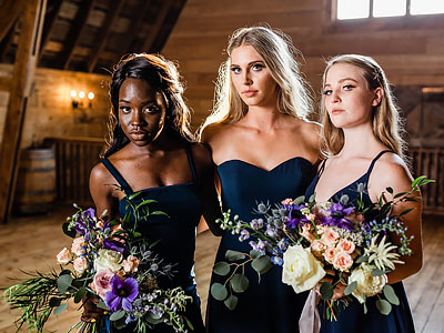 Thread Bridesmaid Inspiration - Midnight Blue